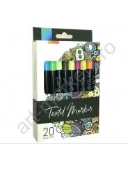 Маркеры для ткани WORISON 20 цветов