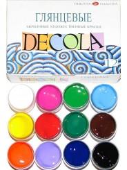 Набор акриловых красок `Decola` глянцевый 12 цветов