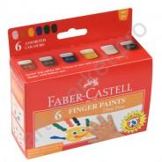 Пальчиковые краски Faber-Castell, 6 цветов по 25 мл