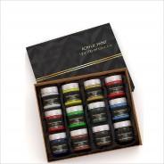 Набор акриловых красок для рисования Yover AcriLyc Paint 12 цветов в банках по 100 мл.