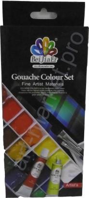 Гуашевые краски в тубах 12 цветов по 12мл.