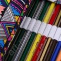 Пенал-органайзер из хлопка для карандашей на 48 пр