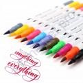 "Набор двусторонних маркеров Brush Markers Pens ""DAINAYW"" 24 цвета"