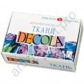 Акриловые краски по ткани Decola, набор 6 цветов