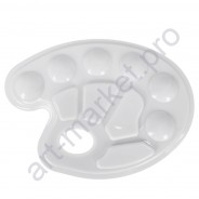 Палитра пластиковая овальная на 10 ячеек