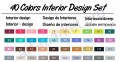 Палитра цветов маркеров «TOUCHNEW» для интерьерного скетчинга