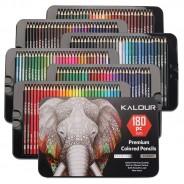 Набор цветных карандашей для рисования  YOVER  в металлической коробке 180 цветов