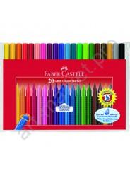 Фломастеры Faber-Castell Grip 20 цветов трехгранные