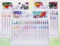 Акварельные маркеры STA Aqua natural brush 12 цветов
