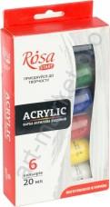 Набор акриловых красок Rosa Start 6 цветов