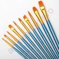 Набор кистей для рисования из синтетики 10 штук