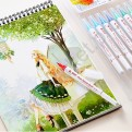 Набор акварельных маркеров STA Aqua natural brush 36 цветов