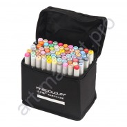 Маркеры для скетчинга FINECOLOUR  60 цветов. Набор для анимации и дизайна