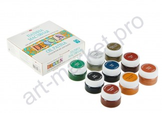 Набор масляных красок Decola патина, 9 цветов