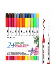 "Набор двусторонних маркеров Brush Markers Pens ""WORISON"" 24 цвета"