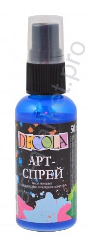 Краска-спрей акриловая «Decola» Арт-спрей Синяя