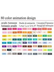 Sketch-маркеры «Touchnew» 80 цветов.