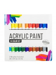 Набор акриловых красок для рисования Yover AcriLyc Paint 24 цвета в тубах по 12 мл.