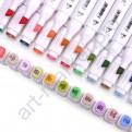 Набор двусторонних маркеров Touchfive.  Дизайн интерьера, 60 цветов