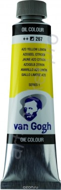 Краска масло Van Gogh цвет 267 Желтый лимонный