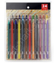 Набор цветных цельнографитных (бездревесных) карандашей Yover 24 цвета