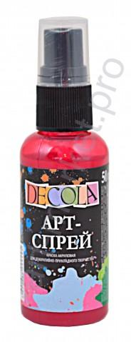 Краска-спрей акриловая «Decola» Арт-спрей Бордовая