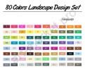 Маркеры для скетчинга  Touchnew  80 цветов. Ландшафтный дизайн