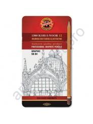 Набор графитных карандашей Koh-I-Noor 1500 Graphic